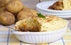 SOTU. Mėsos pyragas su bulvių užklotu