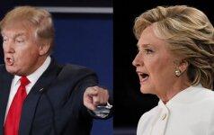 D. Trumpas ir H. Clinton