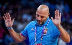 Susigraudinęs serbų lyderis sunkiai rinko žodžius, treneris širdo ant teisėjų