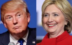 JAV prezidento rinkimų koliažas