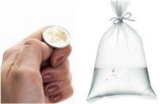 Ji įmetė keturias monetas į maišelį su vandeniu – tokio rezultato nesitikėjo