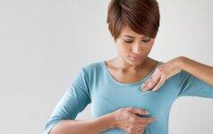 Slapti simptomai, išduodantys krūties vėžį
