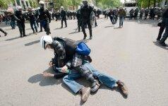 Briuselio policijos vadovas sužeistas per susirėmimą su protestuotojais prieš griežtą taupymą