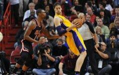 """NBA milžinų dvikovoje """"Heat"""" klubas įveikė """"Lakers"""""""