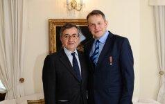 Stefano Maria Taliani de Marchio ir Vydas Dolinskas