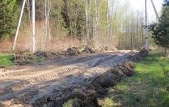 Miškuose – vėl vargas dėl kelių