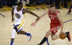 """D. Motiejūno sezonas – baigtas: """"Rockets"""" nė iš tolo neprilygo NBA čempionams"""