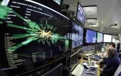 Mokslininkai stebi dalelių srautų susidūrimą