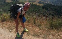 Į kelionę pėsčiomis išėjusi Eglė: gavau atsakymų, klausimų naujų – taip pat