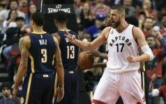 """Galingai žaidęs J. Valančiūnas tęsia sezoną: """"Raptors"""" – antrame NBA atkrintamųjų rate"""