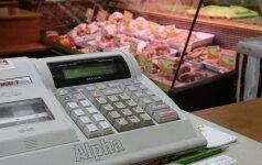 Per mėnesį mažmeninės prekybos įmonių apyvarta sumažėjo 0,6 proc.