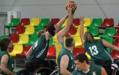 Lietuvos krepšinio vežimėliuose rinktinė Europos čempionate pergalių neiškovojo