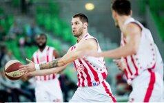 """""""Crvena Zvezda"""" pasaka tęsiasi – įveikė """"Maccabi"""" ir iškovojo 5-ąją pergalę paeiliui"""