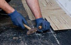Kaip pašalinti keramines grindų plyteles