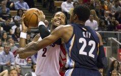 """NBA lygos mače L.Kleizos 12 pelnytų taškų nepadėjo """"Raptors"""" klubui iškovoti pergalės"""