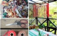 Pasidaryk pats: terasos šviestuvas iš virvių
