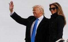 Diena iki inauguracijos: D. Trumpas atvyko į Vašingtoną