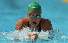 Puiki paraiška prieš Rio: R. Meilutytė Romoje iškovojo antrą aukso medalį