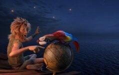 Kadras iš filmo Robinzono Kruzo sala