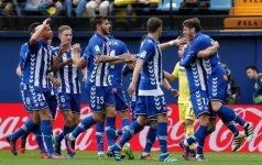 Vitorijos Alaves futbolininkai džiaugiasi