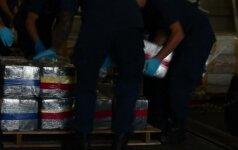 JAV pakrančių apsaugos pareigūnai konfiskavo 17 tonų kokaino