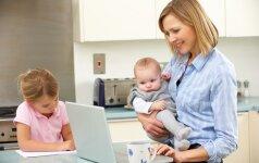 Apklausa atskleidė, kaip darbdaviai elgiasi su vaikų turinčiais darbuotojais