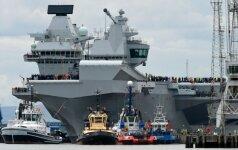 Rusai pasišaipė iš britų: jūsų naujasis lėktuvnešis – lengvas taikinys