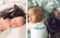 Šie du mažyliai gimė tą pačią dieną