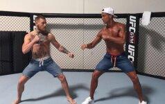 Po treniruotės UFC čempionas negailėjo pagyrų Cristiano Ronaldo: jis - žvėris