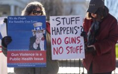 Protestas JAV prieš laisvą disponavimą ginklais