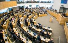 """Seimas - už """"geltonosios kortelės"""" procedūrą Briuseliui"""