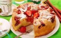Greitas braškinis pyragas