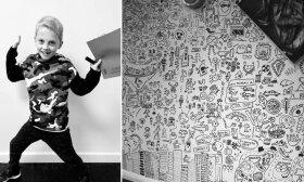 Pamokose problemų dėl piešimo turėjęs berniukas sulaukė darbo pasiūlymo iš restorano