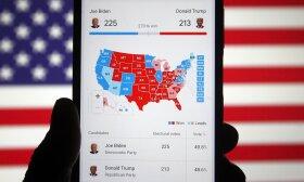JAV rinkimų žemėlapis
