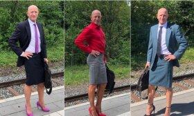 Vyras puošiasi sijonais, bet tai neturi nieko bendro su netradicine orientacija: geriausia stiliaus patarėja tapo žmona