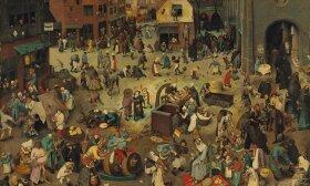 The Fight Between Carnival and Lent. Pieter Bruegel the Elder, Public domain