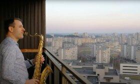Dviejų saksofonistų pokalbis Fabijoniškėse