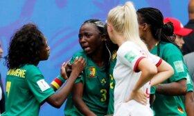 Aistros pasaulio čempionate: pravirkusios kamerūnietės apspjaudė angles, prancūzės pratęsime eliminavo braziles