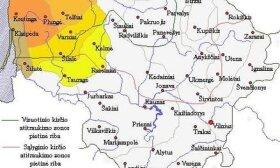 žemaičių kalbos dialektų žemėlapis