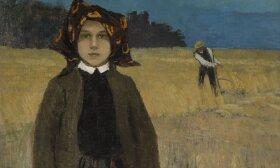Johann Walter. Valstiečių mergaitė. Fragmentas. Apie 1904. Drobė, aliejus. Latvijos nacionalinis dailės muziejus