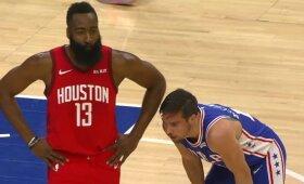 """Hardenas ir """"Rockets"""" Filadelfijoje krito prieš be Butlerio žaidusius """"76ers"""""""