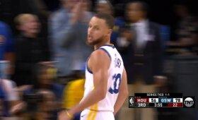 Curry sugrįžimas: žadą atimantis snaiperio tritaškis per Hardeno rankas