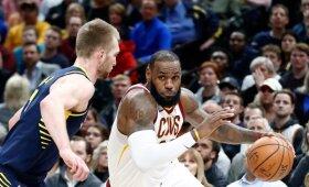 """Sabonis ir """"Pacers"""" nutraukė įspūdingą """"Cavaliers"""" pergalių seriją"""