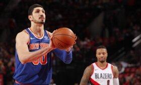 """""""Knicks"""" atleistas Kanteris keliasi į Vakarų konferenciją"""
