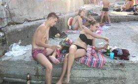 Orijus Odesos viešajame paplūdimyje: pamatyti vaizdai sukrėtė
