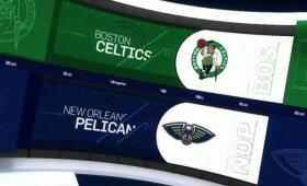 """Nukraujavę """"Celtics"""" Naujajame Orleane krito prieš """"Pelicans"""""""
