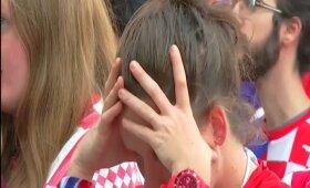 Kaip finalas buvo žiūrimas Zagrebe: dainos, džiaugsmas ir atodūsiai po įvarčių bei kroatų ašaros nuaidėjus teisėjo švilpukui