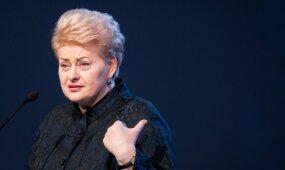 TASS: D. Grybauskaitei sakant kalbą, Rusijos delegacija paliko salę