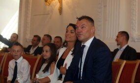 Kauno garbės piliečiu tapęs Jasikevičius nusilenkė savo šeimai: tik jos dėka esu tas, kas esu