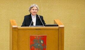 Nijolės Sadūnaitės kalba iš Seimo tribūnos sukėlė gėdą už Lietuvą